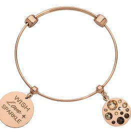Nikki Lissoni 'Wish, Love, Sparkle' Charm Bangle