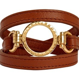 Nikki Lissoni Brown Leather Wrap Bracelet