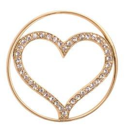 Nikki Lissoni 'Sparkling Heart' Medium Coin