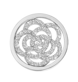Nikki Lissoni 'Sparkling Flower' Small Silver Coin
