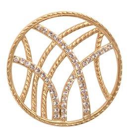 Nikki Lissoni 'Rebellious Stripes' Medium Gold Coin