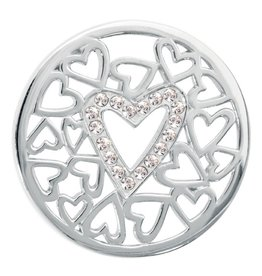 Nikki Lissoni 'Surrounded by Hearts' Medium Coin