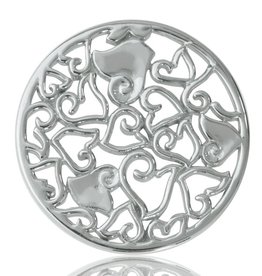 Nikki Lissoni 'Baroque Hearts' Medium SIlver Coin