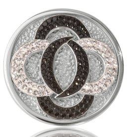 Nikki Lissoni 'Black vs White' Medium Silver Coin