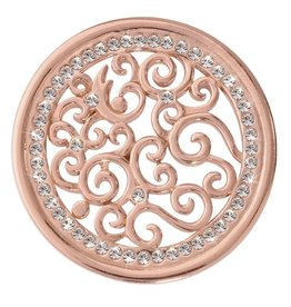 Nikki Lissoni 'Vintage Curls' Medium Rose Gold Coin