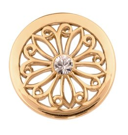 Nikki Lissoni 'Oriental Flower' Small Gold Coin