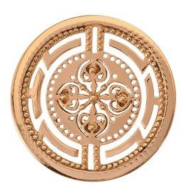 Nikki Lissoni 'Roman Maze' Medium Gold Coin