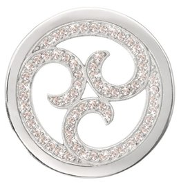 Nikki Lissoni 'Sparkling Curls' Silver Medium Coin