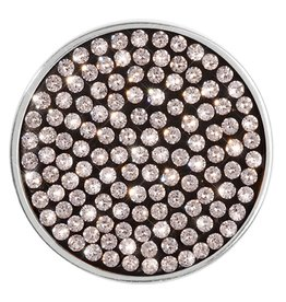 Nikki Lissoni Swarovski Medium Silver Coin