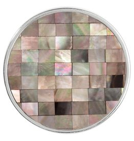 Nikki Lissoni 'Gray Shell Mosaic' Medium Coin