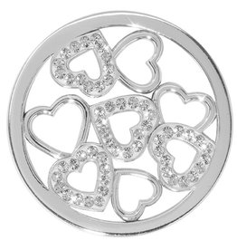 Nikki Lissoni 'Sparkling Hearts' Medium Silver Coin