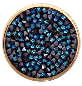 Nikki Lissoni 'Blue Rock Crystal'  Medium Coin
