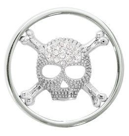 Nikki Lissoni 'Sparkling Skull' Medium Coin