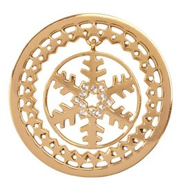 Nikki Lissoni 'Golden Snowflake' Medium Gold Coin