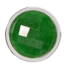 Nikki Lissoni Faceted Green Quartzite Coin