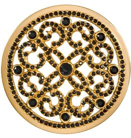 Nikki Lissoni 'Black Ornament' Large Gold Coin