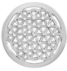 Nikki Lissoni 'Crystal Maze' Medium Silver Coin