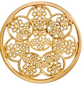 Nikki Lissoni 'Dainty 'Daisies' Large Gold Coin