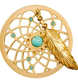Nikki Lissoni 'Turquoise Dreamcatcher' Medium Coin
