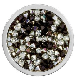 Nikki Lissoni Black & White Rock Crystal Coin