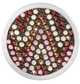 Nikki Lissoni 'Aztec Pink & White' Medium Coin