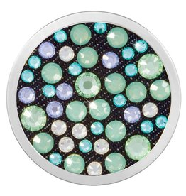 Nikki Lissoni 'Dark Sea Green' Medium Silver Coin