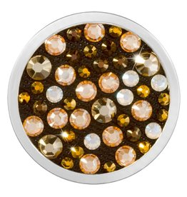 Nikki Lissoni 'Gold and Dark Topaz' Medium Coin
