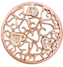 Nikki Lissoni 'Baroque Sparkling Hearts' Large RG Coin