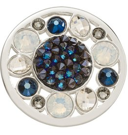 Nikki Lissoni 'Blue Rock Fantasy' Medium Silver Coin
