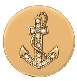 Nikki Lissoni 'Hopeful' Engraved Anchor Small Coin