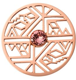 Nikki Lissoni 'Wild and Free' Western Inspired Rose Gold Coin