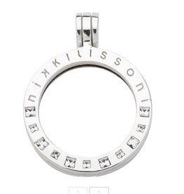 Nikki Lissoni Large Silver Swarovski Crystal Pendant