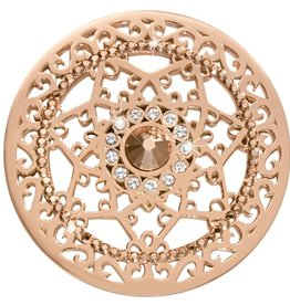 Nikki Lissoni 'Royal Star' Large Rose Gold Coin