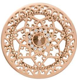Nikki Lissoni 'Royal Star' Large Rose Gold Coin