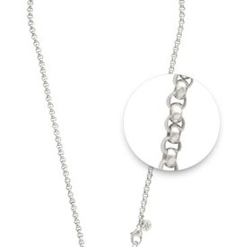 "Nikki Lissoni 18"" Silver Belcher Necklace"