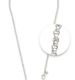 """Nikki Lissoni 18"""" Silver Belcher Necklace"""