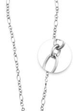 """Nikki Lissoni Nikki Lissoni 27"""" Silver Figaro Necklace - N1019S68"""
