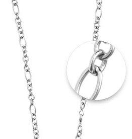 """Nikki Lissoni 27"""" Silver Figaro Necklace"""