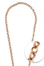 Nikki Lissoni Nikki Lissoni Rose Gold Belcher Oval Necklace - N1020RG68