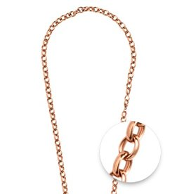 "Nikki Lissoni 27"" Rose Gold Belcher Oval Necklace"