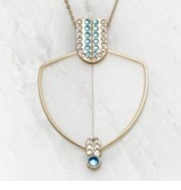 Blinks Glasses & Pendant in Aquamarine +1.50