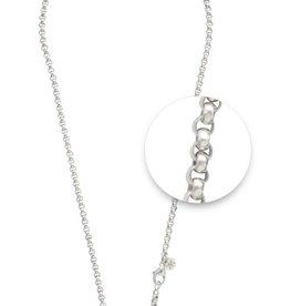 "Nikki Lissoni 36"" Silver Plated Belcher Necklace"