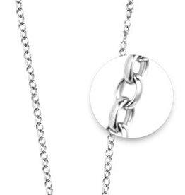 "Nikki Lissoni 27"" Silver Belcher Oval Necklace"