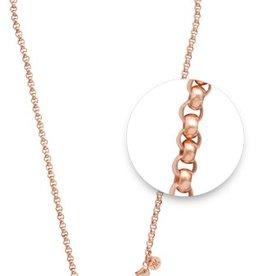 "Nikki Lissoni 36"" Rose Gold Belcher Necklace"
