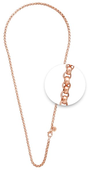 "Nikki Lissoni Nikki Lissoni 36"" Rose Gold Belcher Necklace - N03RG90"