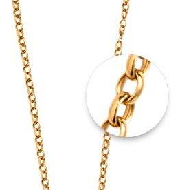 "Nikki Lissoni 27"" Gold Belcher Oval Necklace"