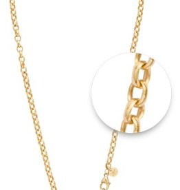 "Nikki Lissoni 36"" Gold Plated Necklace"