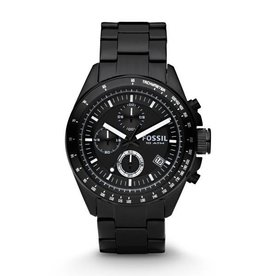 The Fossil Group FOSCH2601S MENS BLACK STAINLESS BLACK DIAL
