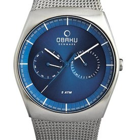 Obaku Watches Men's Jord - Cyan & Stainless Steel