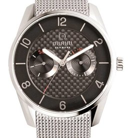 Obaku Watches Men's Flint - Onyx & Stainless Steel